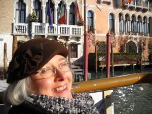 Marla on Grand Canal in Venice, Italy