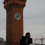Clocktower on Island of Murano in Venice, Italy